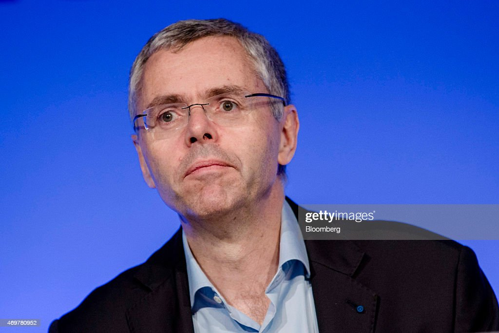 <a gi-track='captionPersonalityLinkClicked' href=/galleries/search?phrase=Michel+Combes&family=editorial&specificpeople=6531244 ng-click='$event.stopPropagation()'>Michel Combes</a>, chief executive officer of Alcatel-Lucent SA, pauses during a news conference following Nokia Oyj's acquisition of Alcatel in Paris, France, on Wednesday, April 15, 2015. Nokia agreed to buy Alcatel in an all-stock deal valued at 15.6 billion euros ($16.6 billion) to create the world's largest supplier of equipment that powers mobile-phone networks. Photographer: Marlene Awaad/Bloomberg via Getty Images