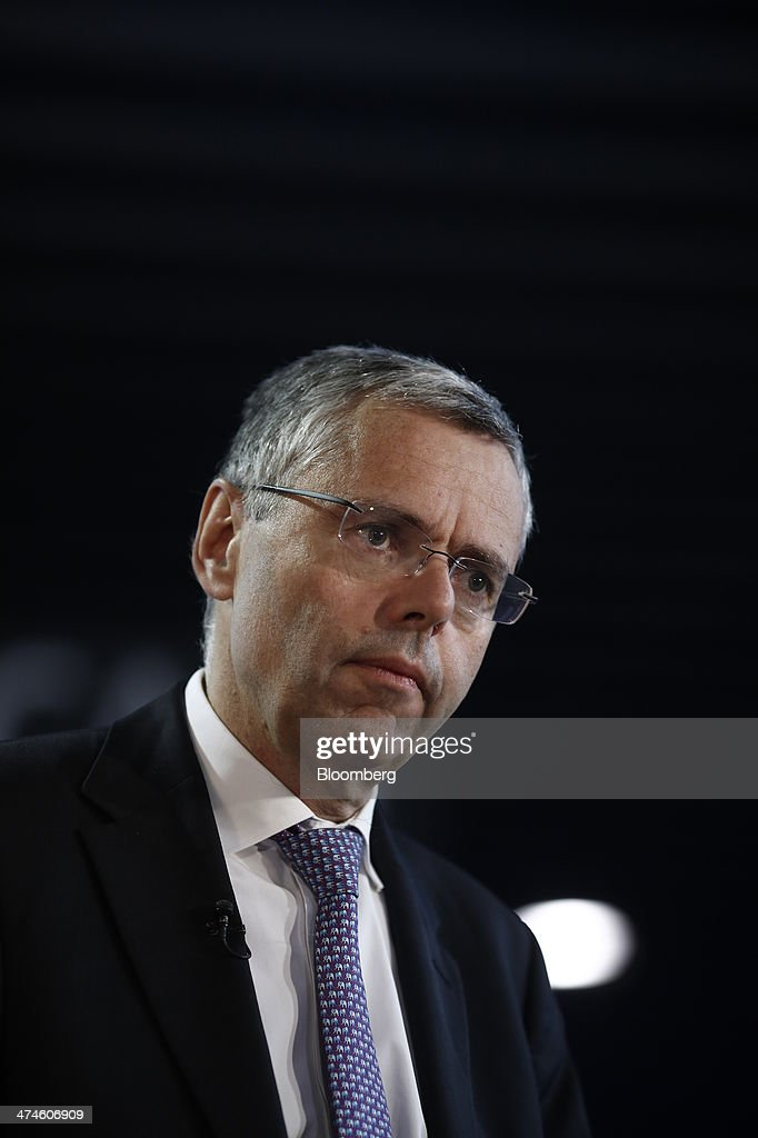 <a gi-track='captionPersonalityLinkClicked' href=/galleries/search?phrase=Michel+Combes&family=editorial&specificpeople=6531244 ng-click='$event.stopPropagation()'>Michel Combes</a>, chief executive officer of Alcatel-Lucent SA, pauses during an interview on the opening day of the Mobile World Congress in Barcelona, Spain, on Monday, Feb. 24, 2014. Top telecommunication managers will rub shoulders in Barcelona this week at the Mobile World Congress, Monday, Feb. 24 - 27, a traditional venue for showcasing the latest products for dealmaking. Photographer: Simon Dawson/Bloomberg via Getty Images