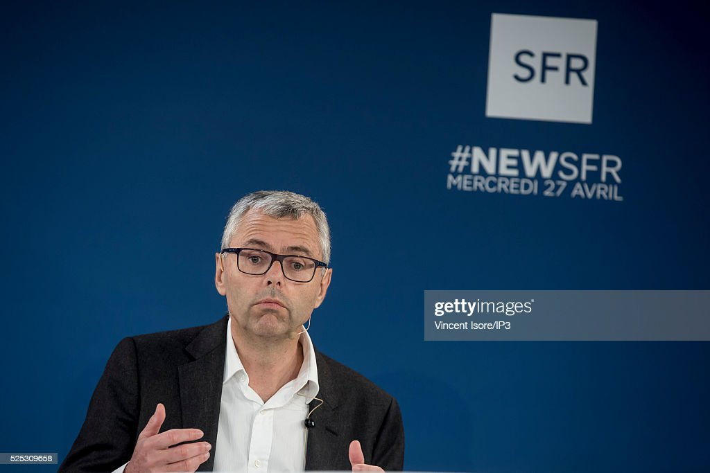 <a gi-track='captionPersonalityLinkClicked' href=/galleries/search?phrase=Michel+Combes&family=editorial&specificpeople=6531244 ng-click='$event.stopPropagation()'>Michel Combes</a> speaks during a press conference of Telecom Company Altice group SFR and NextradioTV media group to announce that SFR will acquire Altice's minority investment in NextRadioTV on April 27, 2016 in Paris, France. The Media group announced that SFR is to acquire Altice's minority investment in NextRadioTV. SFR embraces global convergence, telecoms, media and advertising.