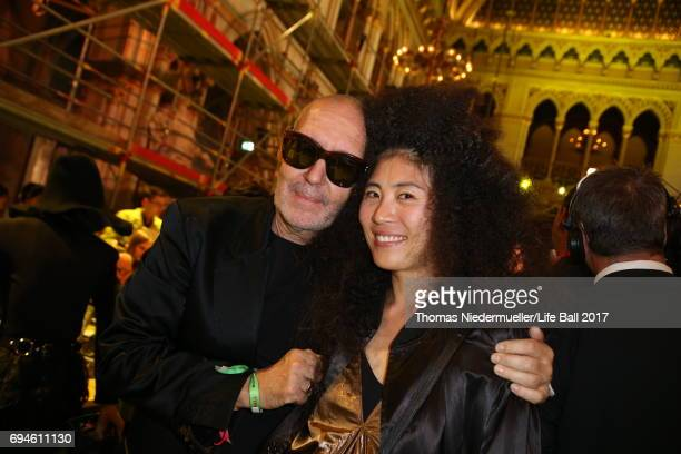 Michel Comte and Ayako Yoshida attend the Life Ball 2017 Gala Dinner at City Hall on June 10 2017 in Vienna Austria