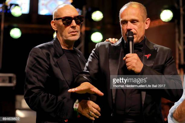 Michel Comte and Gery Keszler attend the Life Ball 2017 Gala Dinner at City Hall on June 10 2017 in Vienna Austria