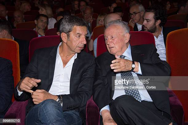 Michel Cymes and Philippe Bouvard attend the RTL Press Conference at Elysees Biarritz Cinema on September 7 2016 in Paris France