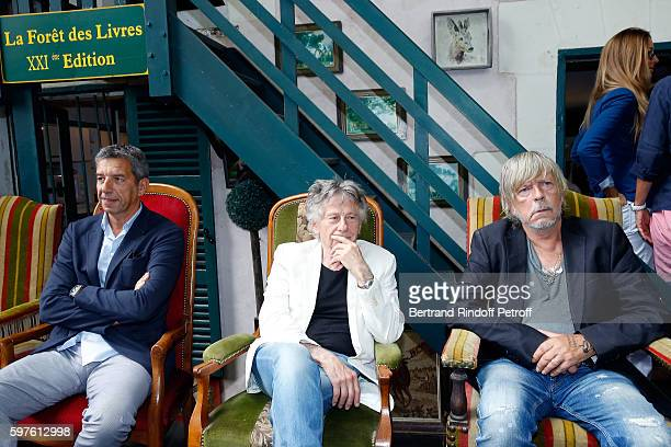 Michel Cymes Roman Polanski and Renaud attend 21th 'la Foret des Livres' Book Fair at ChanceauxpresLoches on August 28 2016 in Loches France
