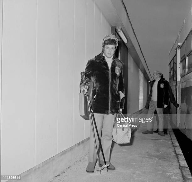 Michel de Carvalho of the British Olympic luge team at Heathrow Airport before a flight to Japan where he will take part in the Winter Olympics at...