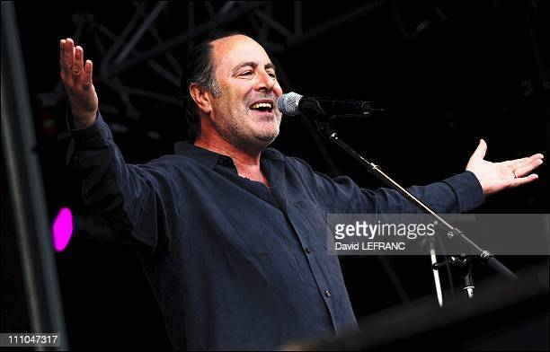 Michel Delpech at Old Ploughs festival in Carhaix France on July 24th 2005