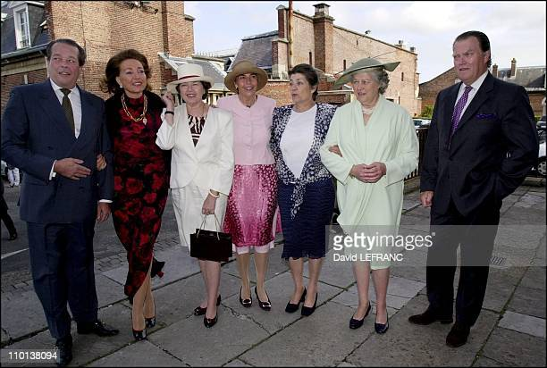 Michel Diane Anne Claude Helene Isabelle and Jacques Isabelle d Orleans 'children at 90th birthday celebration of Isabelle d Orleans countess of...