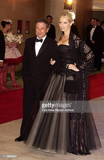 Michel Drucker Adriana Karembeu during Red Cross Ball 2002 Arrivals / Bal de la Croix Rouge 2002 Arrivals at MonteCarlo Sporting Club in MonteCarlo...