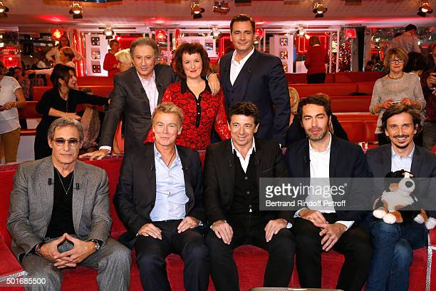 Michel Drucker Anne Roumanoff Olivier Minne Gerard Lanvin Franck Dubosc Main Guest of the Show Singer Patrick Bruel Ben and Arnaud Tsamere attend the...
