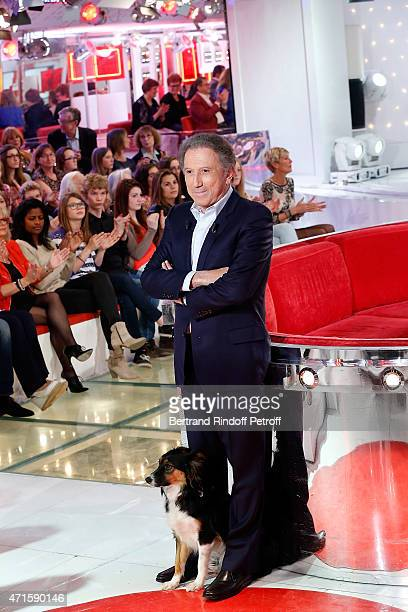 Michel Drucker attend the 'Vivement Dimanche' French TV at Pavillon Gabriel on April 29 2015 in Paris France