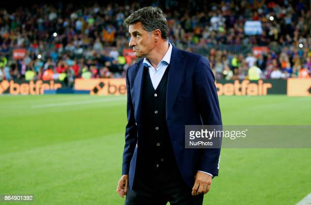 Michel during La Liga match between FC Barcelona v Malaga CF in Barcelona on October 21 2017