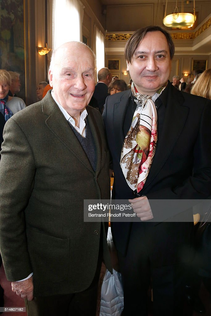 Michel Fau actor and stage director of 'Un amour qui ne finit pas' and 'Fleur de cactus' who receives the 'Prix du Brigadier 2015' and his Former...