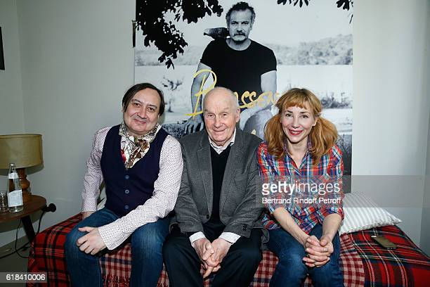 Michel Fau Michel Bouquet and Julie Depardieu attend the Brassens Behind the Scenes and Press Junket on October 17 2016 in Paris France
