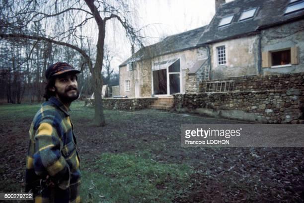 Michel Fugain en vacances le 30 décembre 1975 en France
