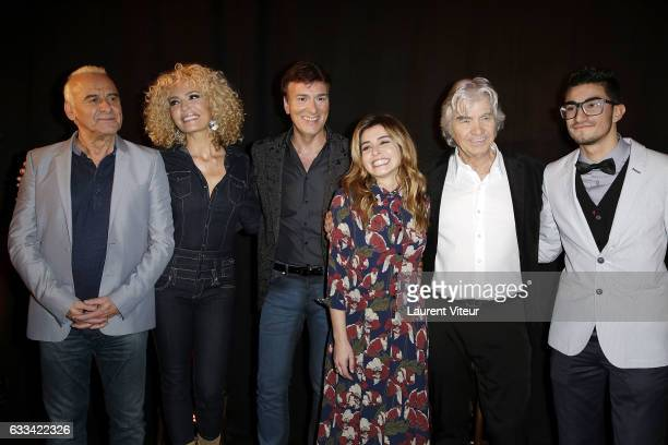 Michel Fugain Ishtar Tony Carreira Julie Zenatti Daniel Guichard attend 'Le Coeur des Femmes' by Tony Carreira Launch Party at L'Arc on February 1...