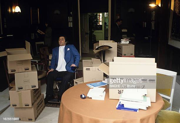 Michel Gillibert Secretary Of State For The Disabled Leaving His Ministry After The Defeat Of The Socialist At The General Elections A Paris Michel...