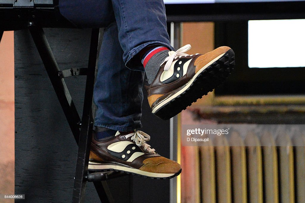 <a gi-track='captionPersonalityLinkClicked' href=/galleries/search?phrase=Michel+Gondry&family=editorial&specificpeople=216337 ng-click='$event.stopPropagation()'>Michel Gondry</a>, shoe detail, attends the AOL Build Speaker Series to discuss his new film 'Microbe and Gasoline' at AOL Studios In New York on June 30, 2016 in New York City.
