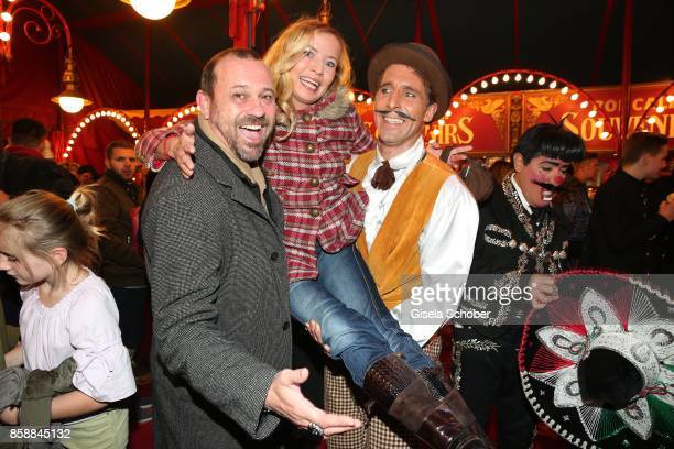 Michel Guillaume and his wife Georgia Guillaume during the premiere of the Circus Roncalli '40 Jahre Reise zum Regenbogen' on October 7 2017 in...