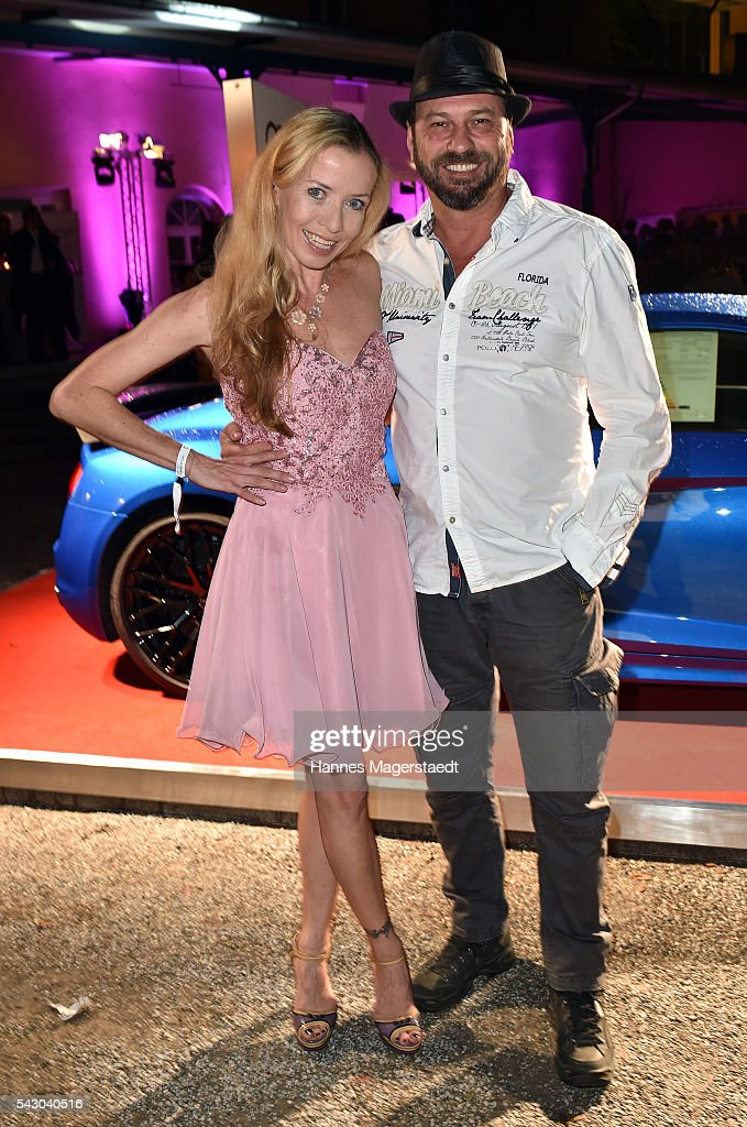 Michel Guillaume and his wife Georgia the Audi Director's Cut during the Munich Film Festival 2016 at Praterinsel on June 25, 2016 in Munich, Germany.