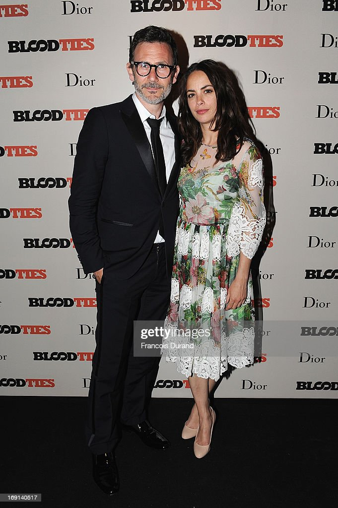 Michel Hazanavicius and Berenice Bejo attend the 'Blood Ties' cocktail and party hosted by Dior at Club by Albane in Bulgari Rooftop on May 20, 2013 in Cannes, France.