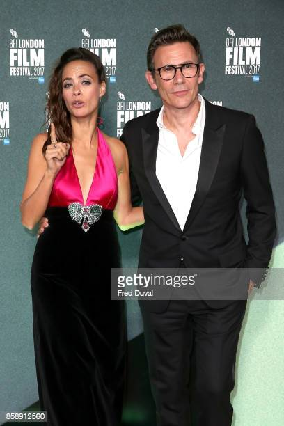 Michel Hazanavicius and Berenice Bejo attend the Create Gala UK Premiere of 'Redoubtable' during the 61st BFI London Film Festival at the Embankment...