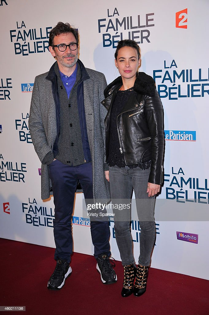 Michel Hazanavicius and Berenice Bejo attend the 'La Famille Belier' Paris Premiere at Le Grand Rex on December 9, 2014 in Paris, France.