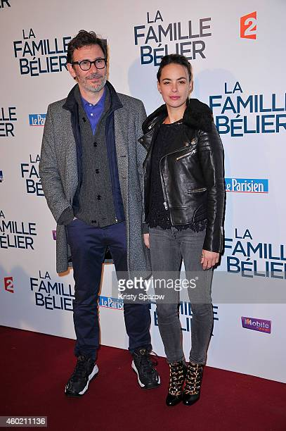 Michel Hazanavicius and Berenice Bejo attend the 'La Famille Belier' Paris Premiere at Le Grand Rex on December 9 2014 in Paris France