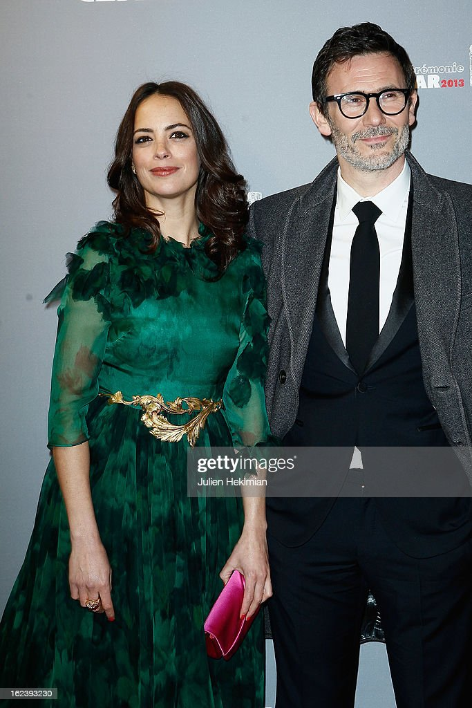 Michel Hazanavicius and his wife Berenice Bejo attend the Cesar Film Awards 2013 at Theatre du Chatelet on February 22, 2013 in Paris, France.