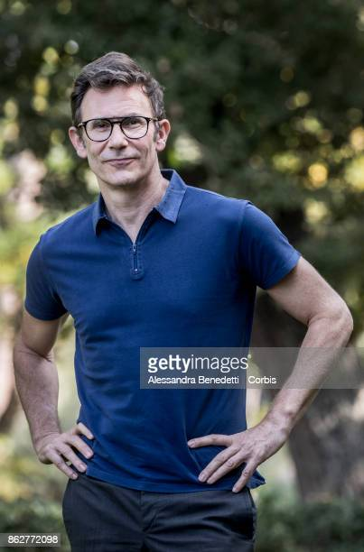 Michel Hazanavicius attends a photocall for 'Redoubtable ' on October 18 2017 in Rome Italy
