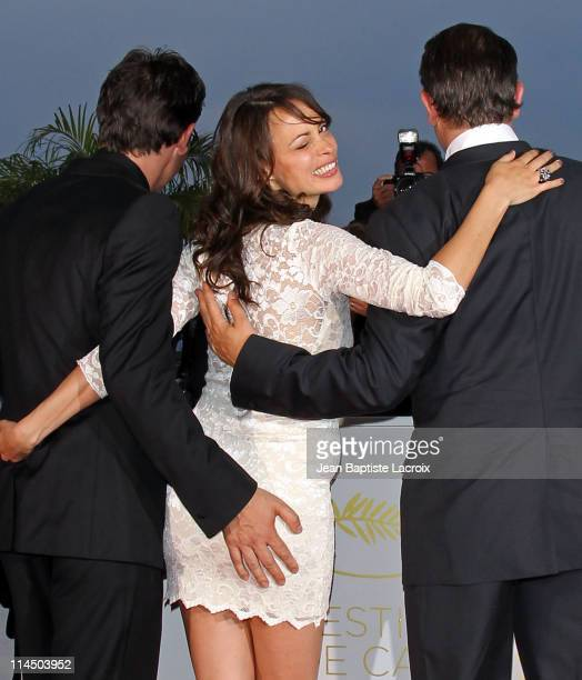 Michel Hazanavicius Berenice Bejo and Jean Dujardin attend the Palme D'Or Winners Photocall at the 64th Annual Cannes Film Festival at Palais des...