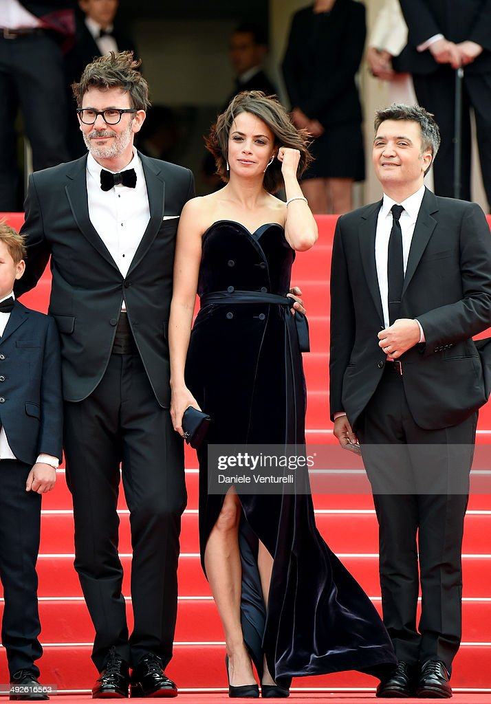 Michel Hazanavicius Berenice Bejo and Thomas Langmann attend 'The Search' Premiere at the 67th Annual Cannes Film Festival on May 21 2014 in Cannes...