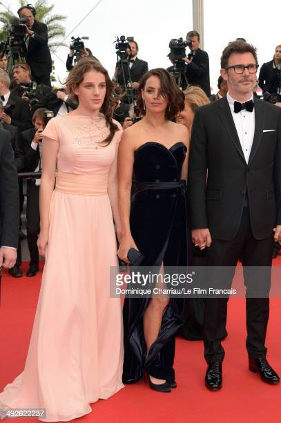 Michel Hazanavicius Berenice Bejo and Zukhra Duishvili attend 'The Search' Premiere at the 67th Annual Cannes Film Festival on May 21 2014 in Cannes...