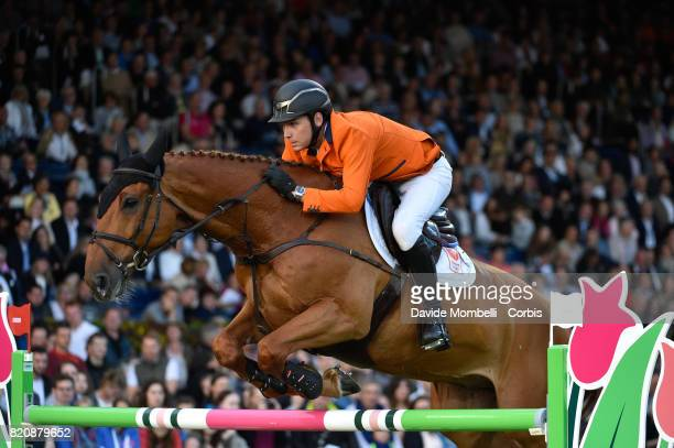 Michel Hendrix of Netherlands riding BAILEYS during CHIO MercedesBenz Nations Cup on July 20 2017 in Aachen Germany