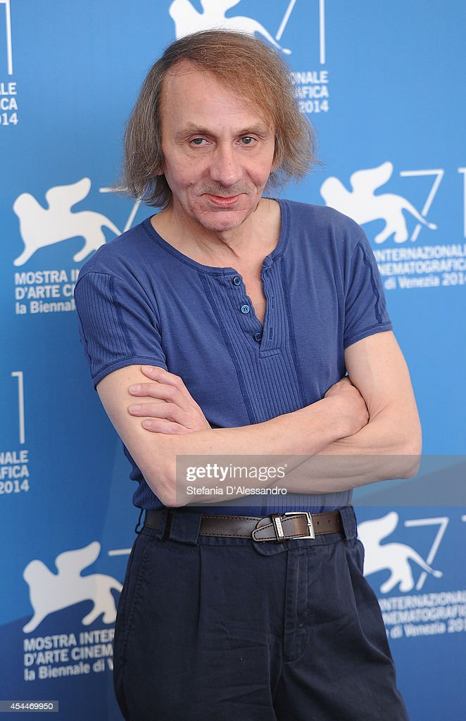 <a gi-track='captionPersonalityLinkClicked' href=/galleries/search?phrase=Michel+Houellebecq&family=editorial&specificpeople=2164957 ng-click='$event.stopPropagation()'>Michel Houellebecq</a> attends 'Near Death Experience' photocall during the 71st Venice Film Festival on September 1, 2014 in Venice, Italy.