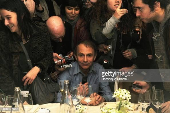 Michel Houellebecq gives a press...