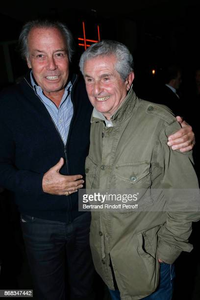 Michel Leeb and Claude Lelouch attend Claude Lelouch celebrates his 80th Birthday at Restaurant Victoria on October 30 2017 in Paris France