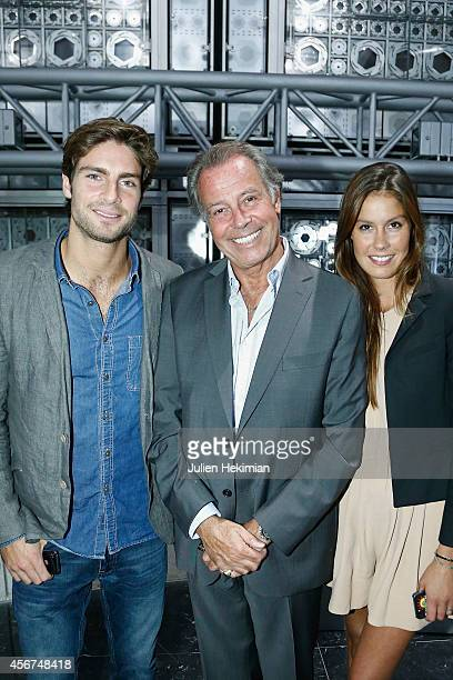 Michel Leeb and his childrens Fanny and Tom attend the Quincy Jones medal ceremony at Institut du Monde Arabe on October 6 2014 in Paris France