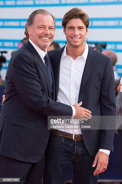 Michel Leeb and his son Tom attend the opening ceremony of the 38th Deauville American Film Festival in Deauville