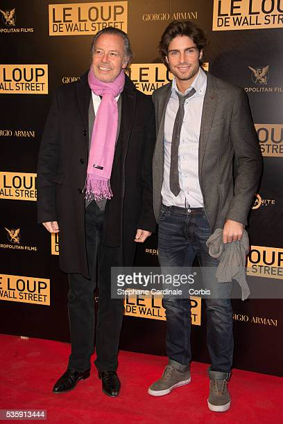 Michel Leeb with his son Tom attend 'The Wolf of Wall Street' World Premiere at Cinema Gaumont Opera in Paris
