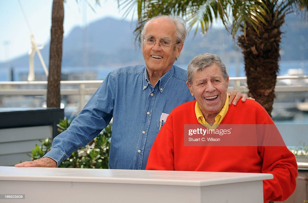 Michel Legrand and <a gi-track='captionPersonalityLinkClicked' href=/galleries/search?phrase=Jerry+Lewis+-+Comedian&family=editorial&specificpeople=202947 ng-click='$event.stopPropagation()'>Jerry Lewis</a> attend the 'Max Rose' photocall during The 66th Annual Cannes Film Festival at the Palais des Festivals on May 23, 2013 in Cannes, France.