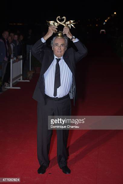 Michel Legrand awarded 'coup de coeur' during the closing ceremony of the 29th Cabourg Film Festival on June 13 2015 in Cabourg France