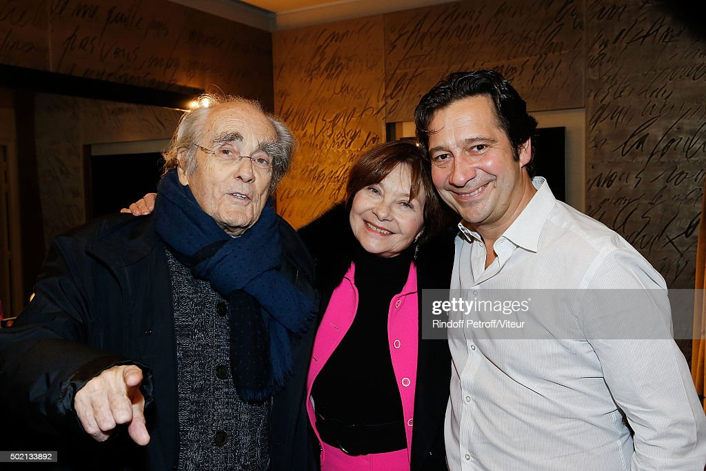 <a gi-track='captionPersonalityLinkClicked' href=/galleries/search?phrase=Michel+Legrand&family=editorial&specificpeople=2004179 ng-click='$event.stopPropagation()'>Michel Legrand</a>, <a gi-track='captionPersonalityLinkClicked' href=/galleries/search?phrase=Macha+Meril&family=editorial&specificpeople=672802 ng-click='$event.stopPropagation()'>Macha Meril</a> and <a gi-track='captionPersonalityLinkClicked' href=/galleries/search?phrase=Laurent+Gerra&family=editorial&specificpeople=538435 ng-click='$event.stopPropagation()'>Laurent Gerra</a> attend the <a gi-track='captionPersonalityLinkClicked' href=/galleries/search?phrase=Laurent+Gerra&family=editorial&specificpeople=538435 ng-click='$event.stopPropagation()'>Laurent Gerra</a> One Man Show at L'Olympia on December 19, 2015 in Paris, France.