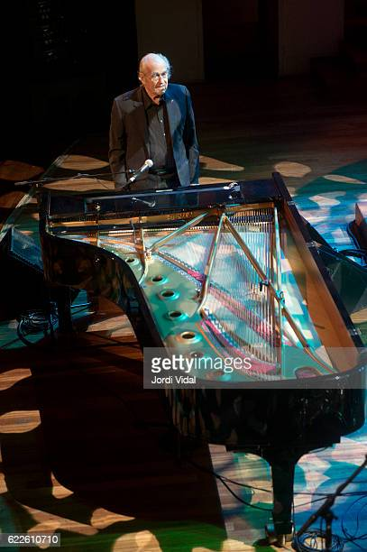 Michel Legrand of Michel Legrand Trio performs on stage during Festival Internacional Jazz de Barcelona at Palau de la Musica on November 11 2016 in...