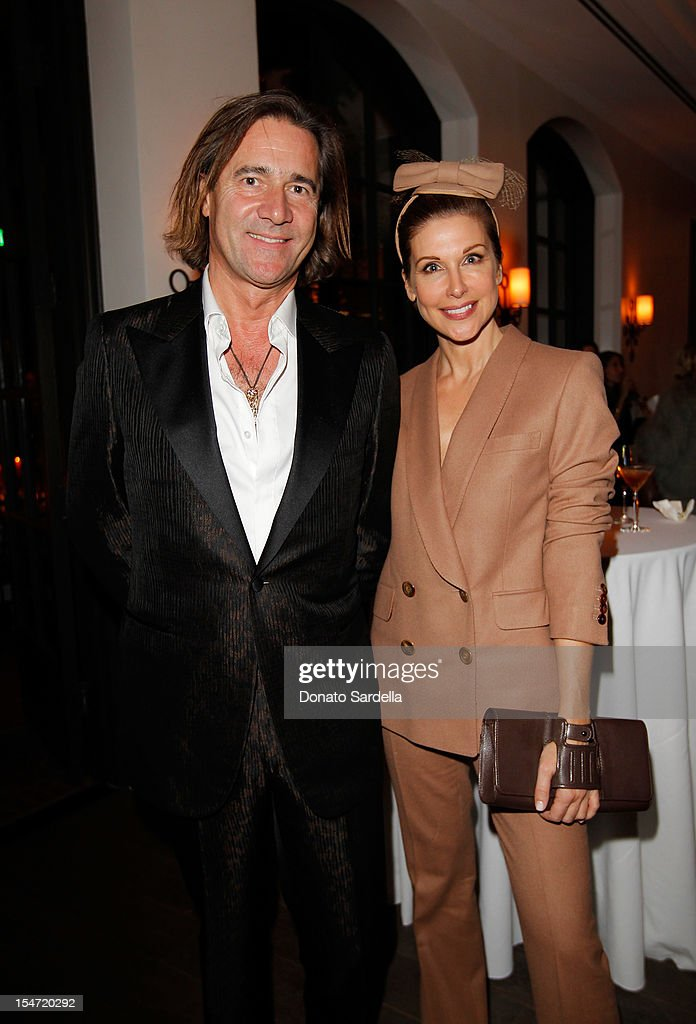 Michel Perrin and Sally Perrin attend W's Stefano Tonchi and Catherine Keener celebrate W's 40th Anniversary and the Book Release of 'W: The First 40 Years' at Spago on October 24, 2012 in Beverly Hills, California.