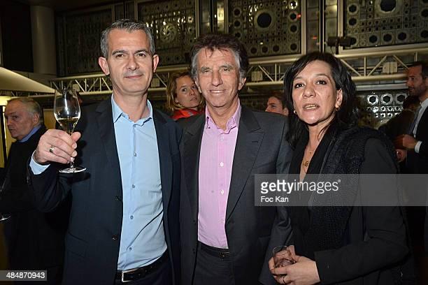 Michel Pillot Institut du Monde Arabe president Jack Langand Fred Phi attend the 'Passion Francaise Les Voix Des Cites' Gilles Kepel's Book Launch...