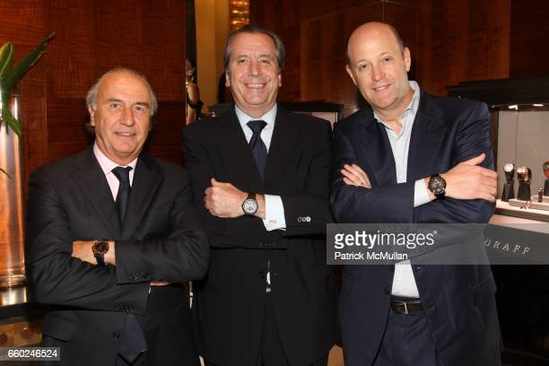 Michel Pitteloud Henri Barguirdjian and Kirk Posmantur attend The Private Unveiling of GRAFF Time Watch Collection 1 at Graff on June 11 2009 in New...
