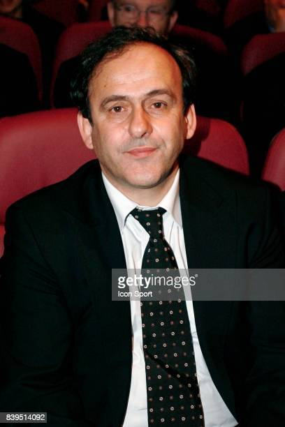 Michel PLATINI Inauguration des nouveaux locaux de l'instance nationale FFF