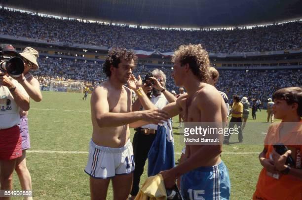 Michel Platini / Alemao France / Bresil Quart de Finale de la Coupe du Monde 1986