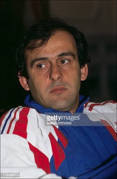 Michel Platini And France Soccer Team On November 14Th1991