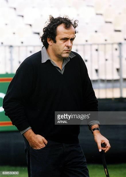 Michel Platini au Trophée Lancôme de golf en septembre 1998 à SaintNomlaBretèche France