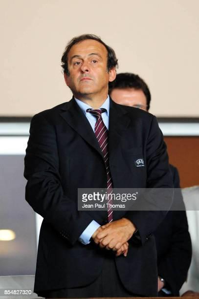 Michel PLATINI Barcelone / Shakhtar Donetsk Super Coupe d Europe 2009 Stade Louis II de Monaco